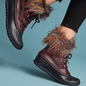 Sorel Lux Out 'N About Cashmere-Lined Boots Wine